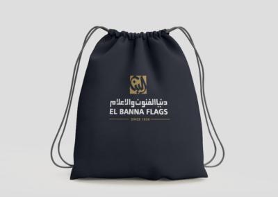 Black string bag